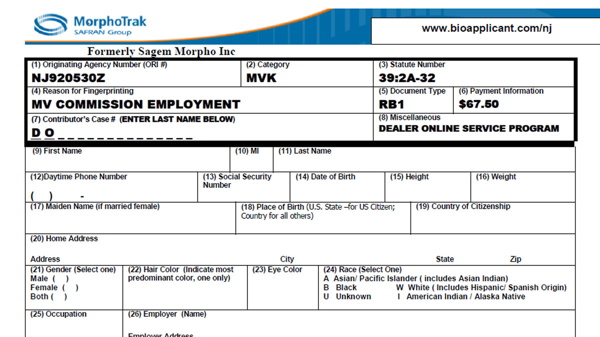 New Jersey Dept Of Motor Vehicles Forms | caferacer.1firts.com