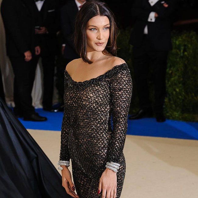 Bella Hadid rocked a sleek hair look to the Met Gala