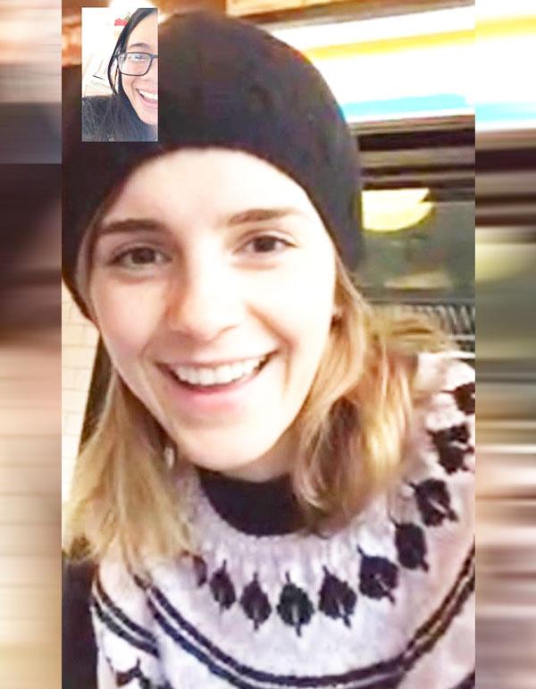 Con Una Sorpresa Va FaceTime Emma Watson Motiv A Una