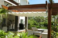 Outdoor awnings of the residence Balcones del Atlantico by Casa Moda Decoration, Las Terrenas