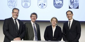 From right to left: Gerd Walker, Christiane Eckert, Frank Doods, Klaus Rheda.