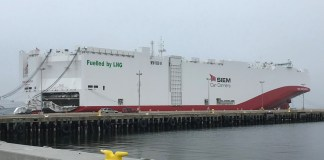 Volkswagen Group of America welcomes first LNG-powered vehicle transport ship to U.S. port