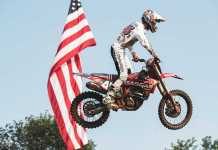 Break-through ride for Pierce Brown at the Redbud National