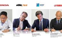 Swappable Batteries Motorcycle Consortium agreement signed between Piaggio Group, Honda Motor, KTM and Yamaha Motor for motorcycles and light electric vehicles