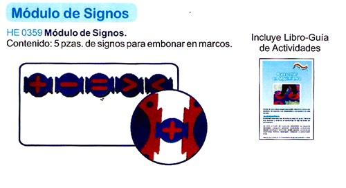 Útil y práctico Módulo de Signos
