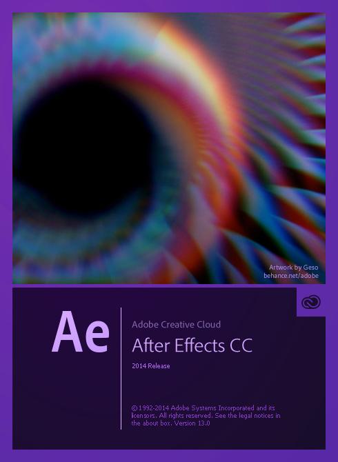 新版的 Adobe CC 2014 軟體的開啟畫面插畫 Adobe-After-Effects-CC-2014