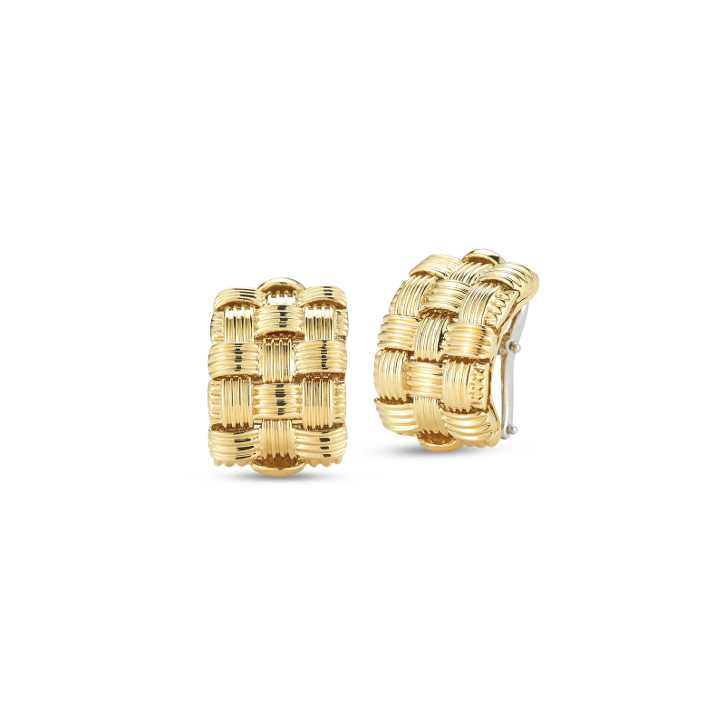 Roberto-Coin-Appassionata-18K-Yellow-Gold-3-Row-Earrings-639016AYER00