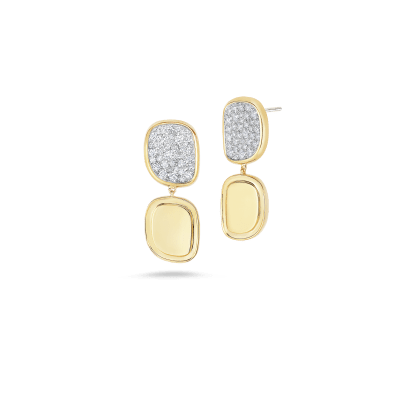 Product 18K Drop Diamond Earrings With Diamonds