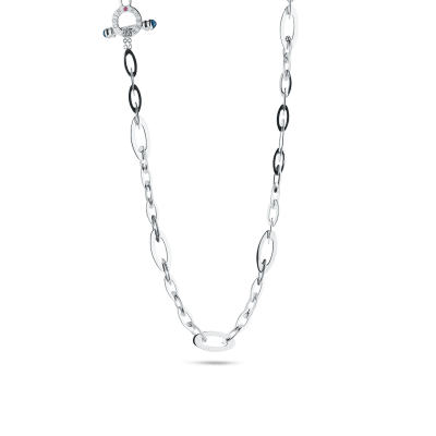 Roberto-Coin-Designer-Gold-18K-White-Gold-Chic-and-Shine-Small-Link-Necklace-295026AW18S0