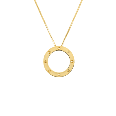 Roberto Coin Pois Moi 18K Yellow Gold Circle Pendant 777930AY1800