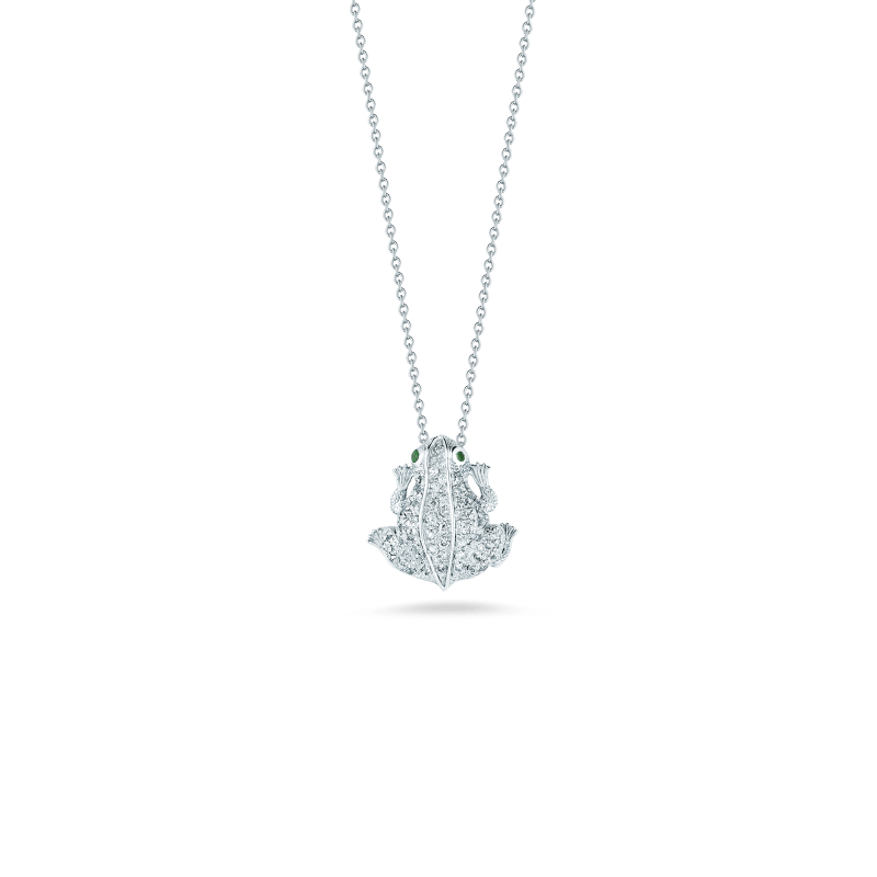 Roberto-Coin-Tiny-Treasures-18K-White-Gold-Frog-Pendant-with-Diamonds-000382AWCHXV