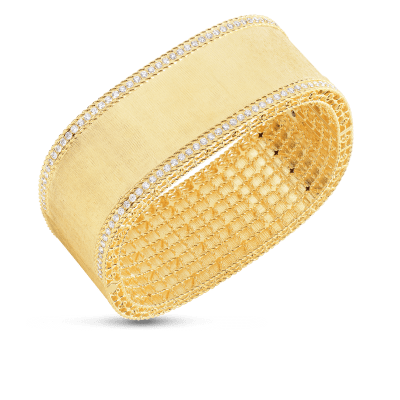 Bangle with Diamond Edges