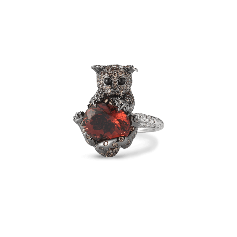 Roberto-Coin-Animalier-18K-White-Gold-Cat-Ring-with-Diamonds-andTourmaline-and-Sapphires-378022AW65JX