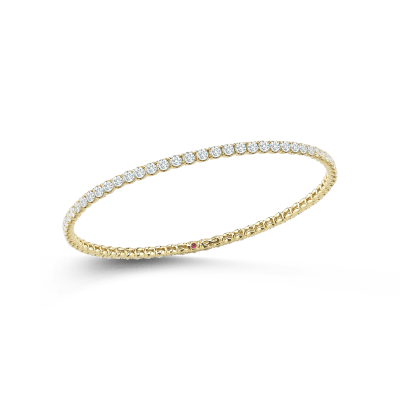 Bangle With Diamonds 18K Yellow Gold