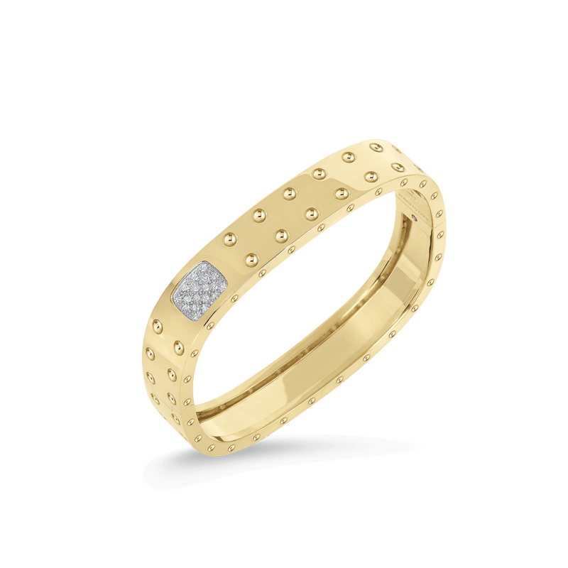 Roberto-Coin-Pois-Moi-18K-Yellow-Gold-and-18K-White-Gold-2-Row-Square-Bangle-with-Diamonds-888536AJBAXM
