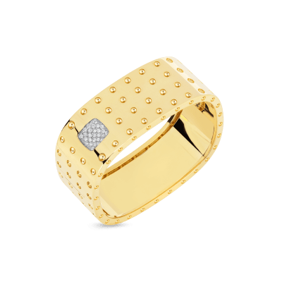 Roberto-Coin-Pois-Moi-18K-Yellow-Gold-and-18K-White-Gold-4-Row-Square-Bangle-with-Diamonds-888534AJBAXM