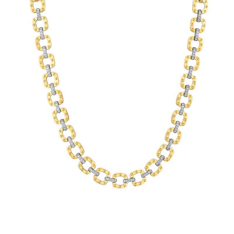 Roberto-Coin-Pois-Moi-18K-Yellow-Gold-and-18K-White-Gold-Link-Necklace-with-Diamonds-777976AJCHX0