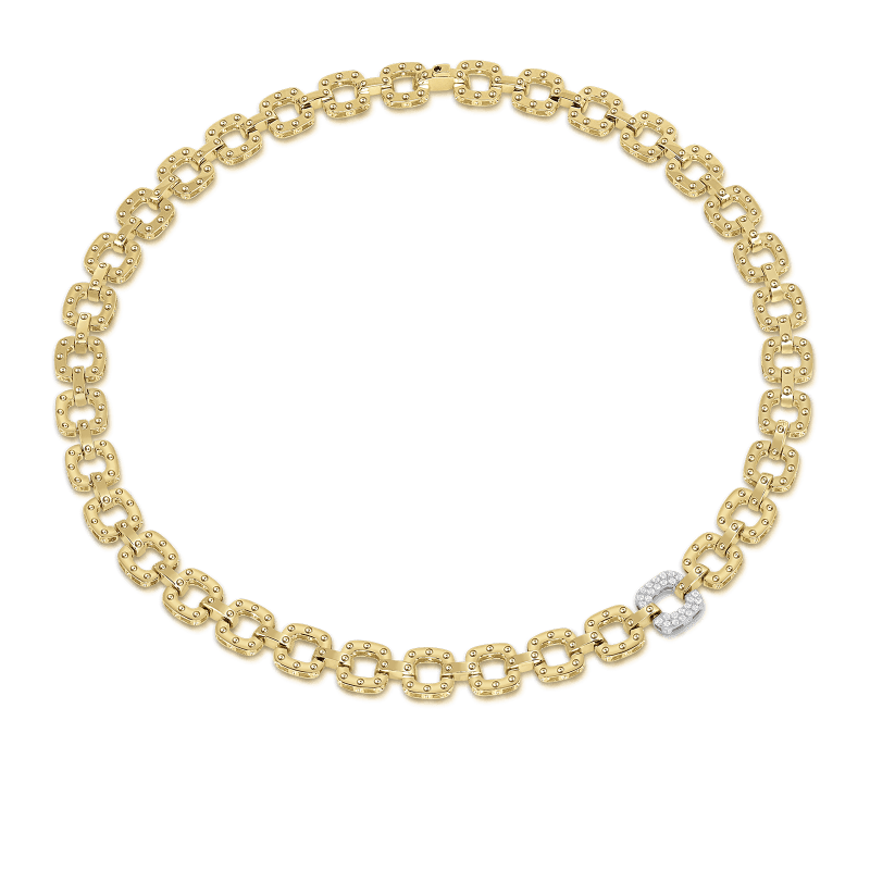Roberto-Coin-Pois-Moi-18K-Yellow-Gold-and-18K-White-Gold-Necklace-with-1-Diamond-Link-777978AJCHX0