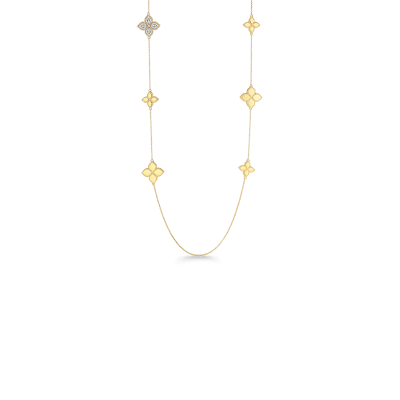 Station Necklace with Diamonds