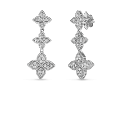 3 Drop Earring with Diamonds
