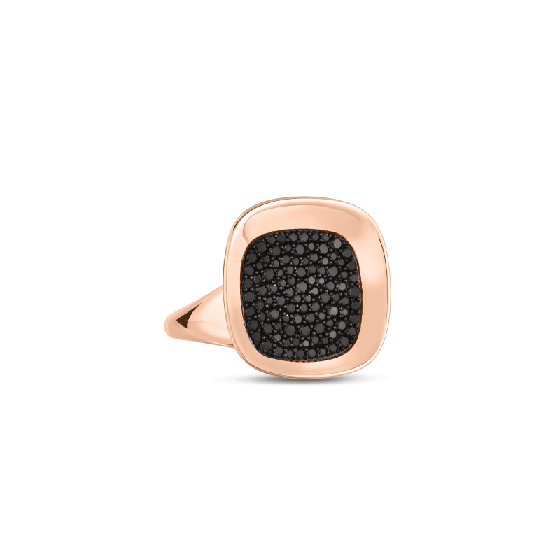 Roberto-Coin-18k-rose-gold-Small Ring with Black Diamonds-8882192AB65Balt1