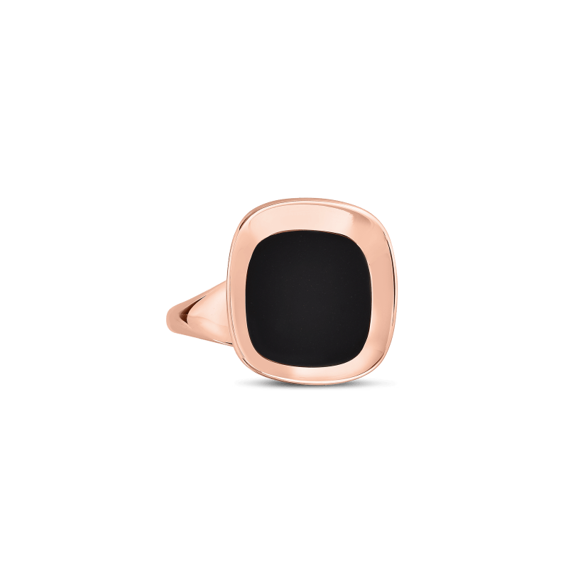Roberto-Coin-18k-rose-gold-Small Ring with Black Jade-8882208AX65Balt1