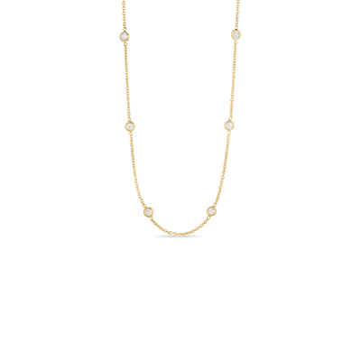 Necklace with 10 Diamond Stations