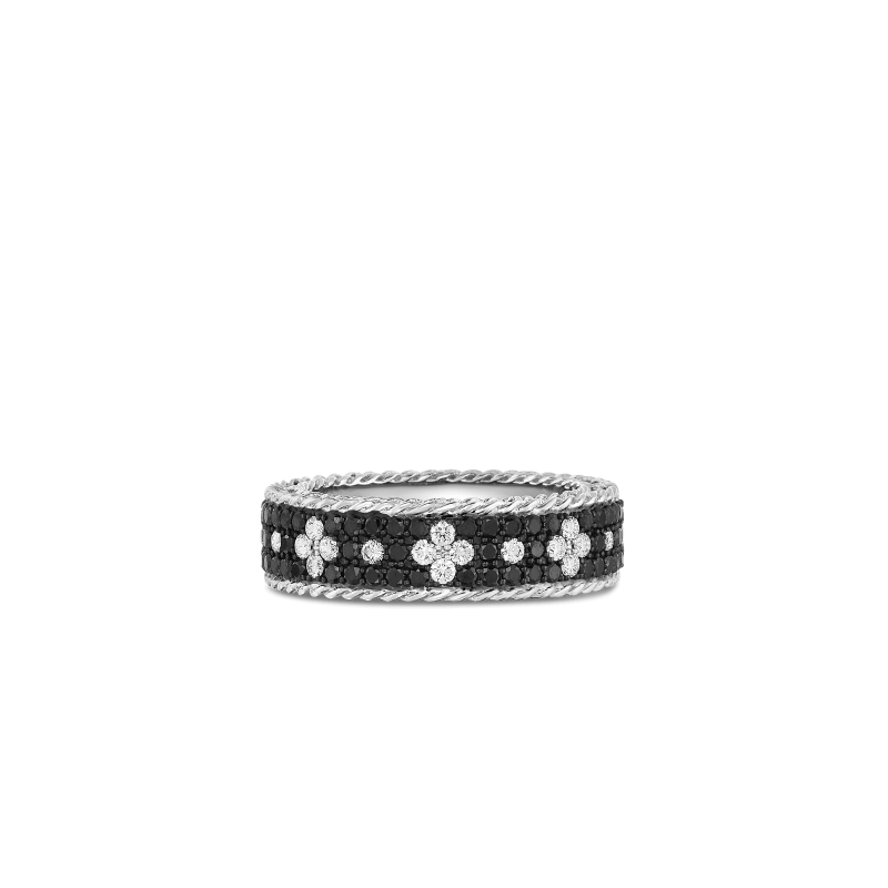 Roberto-Coin-18k-white-gold-Ring with Fleur de Lis Diamonds-8882253AW65X