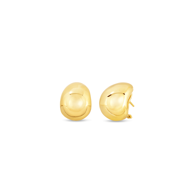 Roberto-Coin-18k-yellow-gold-Domed-Earring–674434AYER00