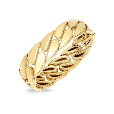 Product 18K Roberto Coin Designer Gold Ring With Diamonds