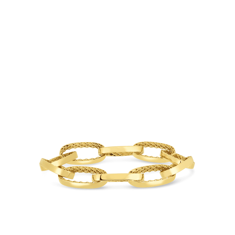 Roberto-Coin-18k-yellow-gold-Link-Bracelet-7771429AYGB0