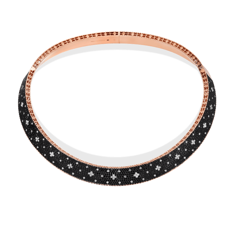 Roberto-Coin-18k-Rose-Gold-Venentian-Princess-Wide-Collar-with-Black-and-White-Fleur-de-Lis-Diamonds-8882251axcox