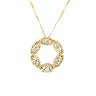 Large Diamond Circle Necklace