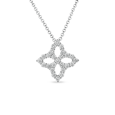 NECKLACE WITH MEDIUM DIAMOND PENDANT