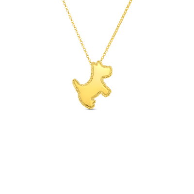 Product 18kt gold scottie dog pendant