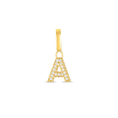 Product 18k Gold & Diamond Princess Letter 'A' Charm