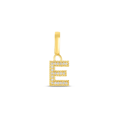 Product 18k Gold & Diamond Princess Letter 'E' Charm