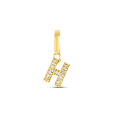Product 18k Gold & Diamond Princess Letter 'H' Charm