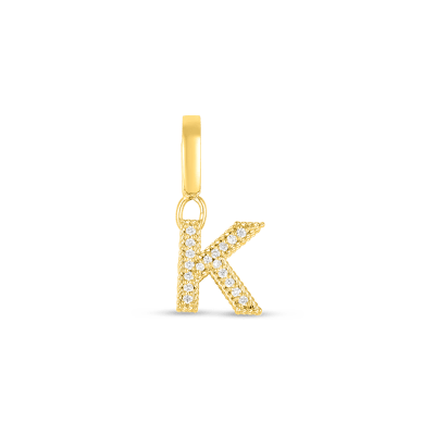 Product 18k Gold & Diamond Princess Letter 'K' Charm