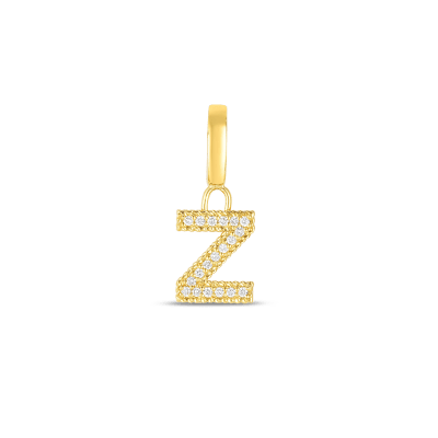 Product 18k Gold & Diamond Princess Letter 'Z' Charm
