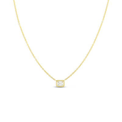 Product 18k Emerald Cut Diamond Necklace