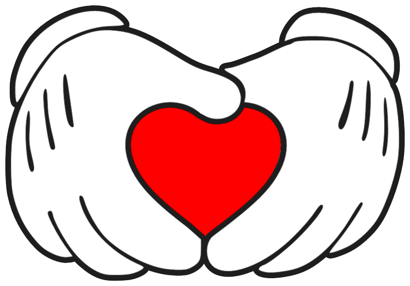Download Mickey mouse hand in shape of heart — Make The Cut! Forum