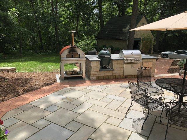 outdoor kitchen complete — big green egg - egghead forum - the