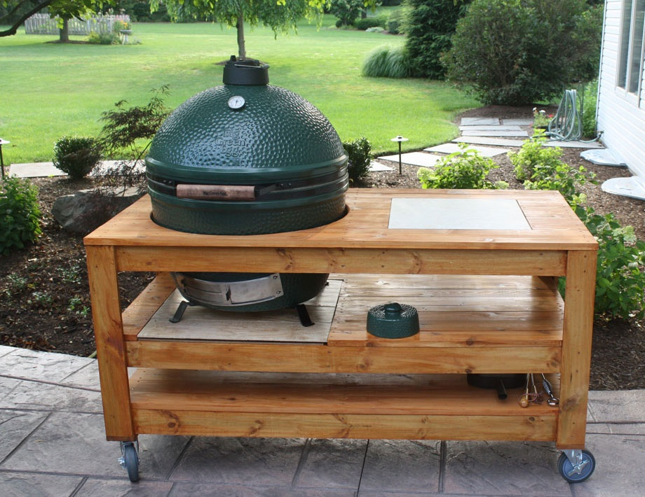 Question About Bge Xl Table Build Tomorrow Big Green Egg