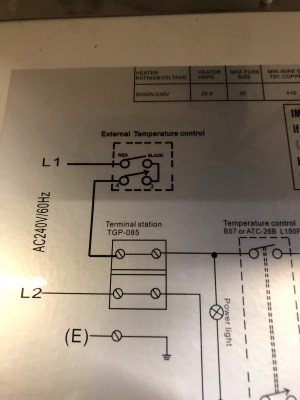 Help with wiring of Profusion Heater and Aube relay w external thermostat — Heating Help: The Wall