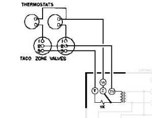 help wiring Honeywell Aquastat L8148E and 2x Taco Zone Valves — Heating Help: The Wall
