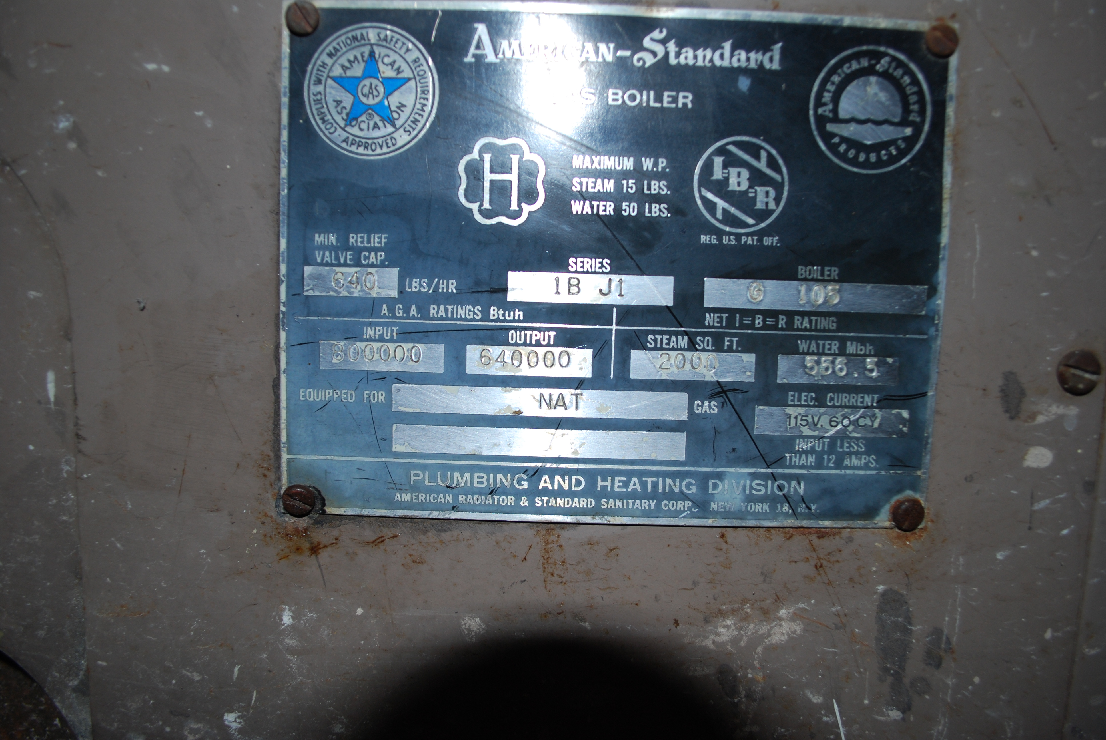 NEED User/Owners Manual For Old American Standard Boiler