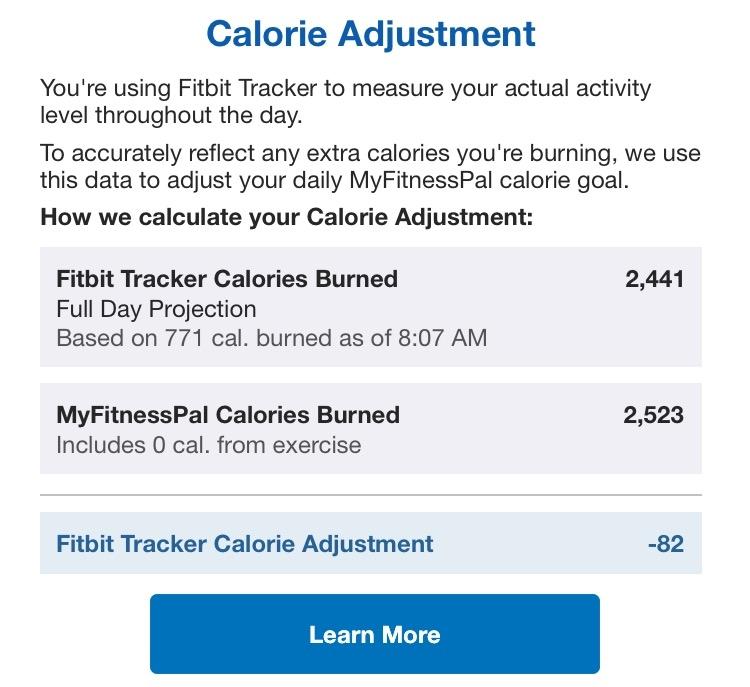 Myfitnesspal Exercise Calorie Adjustment | Amatfitness co