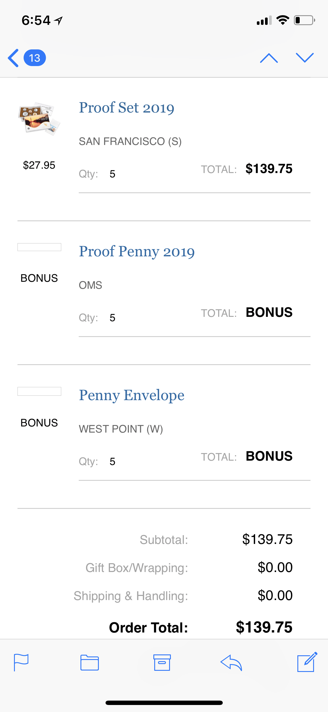 New W Penny Coming With Proof Sets Special Lable