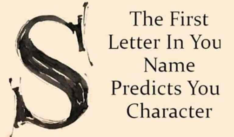 The First Letter Of Your Name Reveals Your Character And Personality